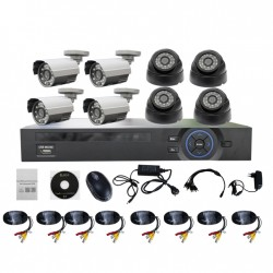 720p 8ch Dome and Bullet AHD DVR Kits