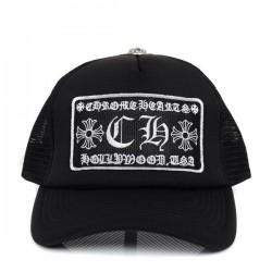 Mens Cool Black Chrome Hearts CH Patch Logo Mesh Baseball Cap – $109.00 : Chrome Hearts On ...