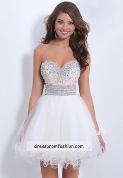 Jewels Beaded Top Ivory Short Layered Homecoming Dress Cheap Sale – Sweet 16 Dresses