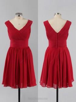 Buy Red Bridesmaid Dresses Canada at Pickeddresses