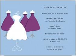 Original Design Wedding Gown Bridal Shower Invitations HPB161 [HPB161]