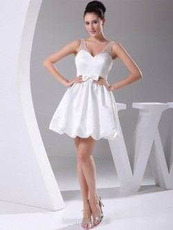 Short Wedding Dresses in Mini Length, Knee Length at LandyBridal