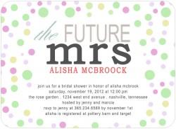 The Future Mrs Bridal Shower Invitation Card HPB128 [HPB128]