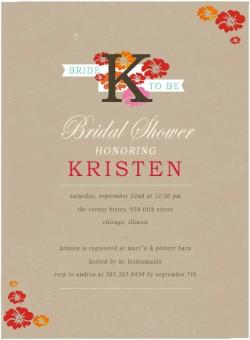 Vigorous Bloom Bridal Shower Invitation Card HPB156 [HPB156]