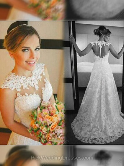 Vintage Lace Wedding Dresses | Amazing Long Sleeve Lace Dress, PWD