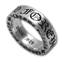 925 Pure Silver Forever Silver 6mm Spacer Chrome Hearts Ring Sale Cheap [CH #ch2075] – $20 ...