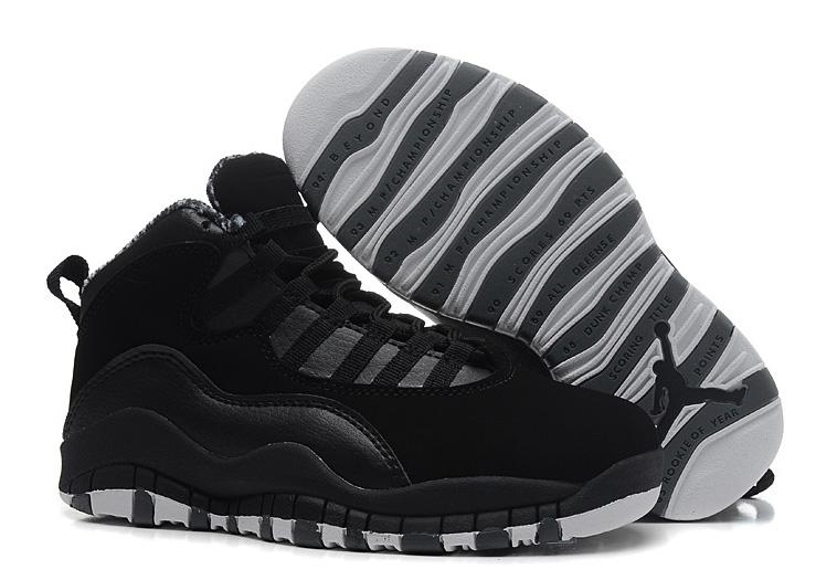 Wholesale Air Jordan 10 (X) Retro Black White-Stealth Sale Online