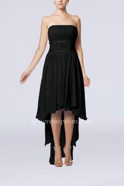 Simple Strapless High Low Little Black Dresses Cheap – $146.00 : Prom Dresses   Generous D ...