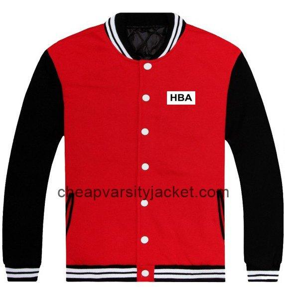 New Cotton HBA Printed Baseball Jacket Red With Black Sleeves [Varsity Jacket Unisex] – $1 ...