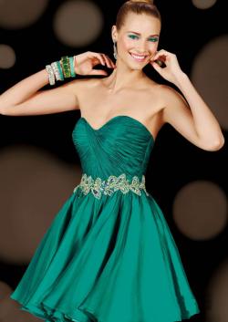 US$158.99 2015 Green Sleeveless Sweetheart Zipper Crystals Chiffon Short