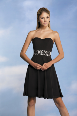 US$132.99 2015 Zipper Up Sweetheart Black Sleeveless Chiffon Short