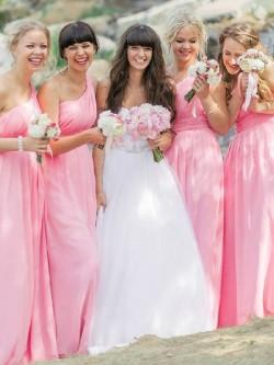 Asymmetric One Shoulder Bridesmaid Dresses UK   Dressfashion.co.uk