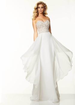 US$173.99 2015 Red White Beading Chiffon Sweetheart Sleeveless Open Back Floor Length