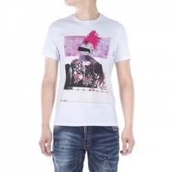 Dsquared2 Men D148 Dean POP Short Sleeves T-Shirt White