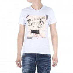 Dsquared2 Men D142 DSQ Lady Short Sleeves T-Shirt White