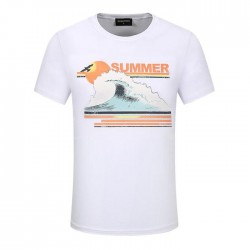 Dsquared2 Men D133 Summer Waves Short Sleeves T-Shirt White