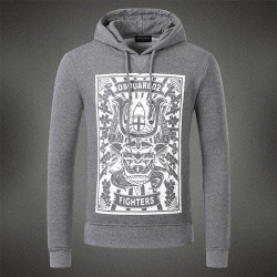 Dsquared2 Men DS01 Fighters Print Sweatshirt Grey