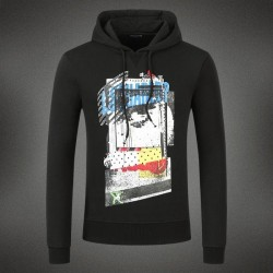 Dsquared2 Men DS10 Graffiti Print Sweatshirt Black
