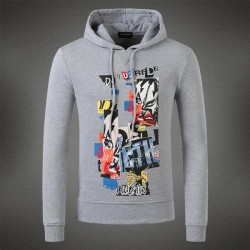 Dsquared2 Men DS14 Graffiti Print Sweatshirt Grey