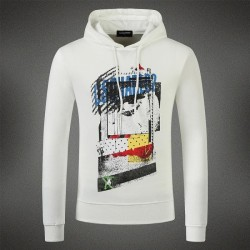 Dsquared2 Men DS10 Graffiti Print Sweatshirt White
