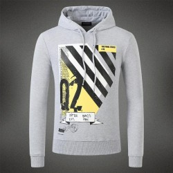 Dsquared2 Men DS08 Q2 Stripes Sweatshirt Grey