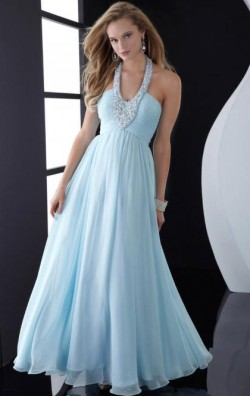 Elegant Long Light Blue Tailor Made Evening Prom Dress (LFNAC1244) cheap online-MarieProm UK