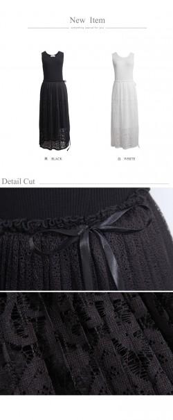 【新品】 東京著衣 高雅浪漫羅紋拼接網紗連身裙 | 連身裙 | 女裝 | MyDress