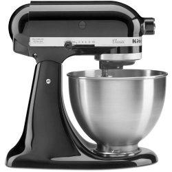 KitchenAid Classic Series 4.5 Quart Tilt-Head Stand Mixer, Onyx Black (K45SSOB) – Walmart.com