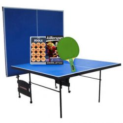 Sportspower Ping Pong Table with Racket & Ball Set Bundle – Fitness & Sports &#821 ...