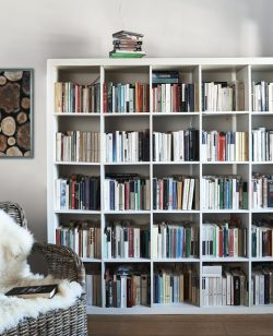 Three storage and display ideas for the IKEA KALLAX unit from Elisa's home in Italy