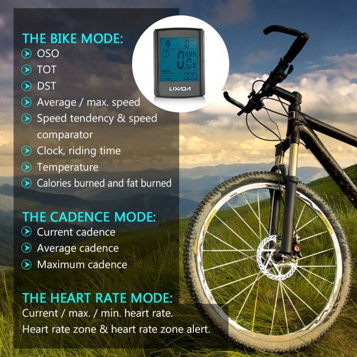 Cycling Computer With Cadence Heart Rate Monitor & Speedometer – Products Marketplace