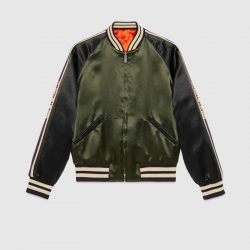 Acetate bomber with Gucci stripe – Gucci Outerwear & Leather Jackets