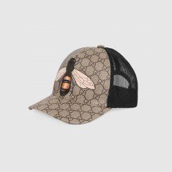 Bee print GG Supreme baseball hat – Gucci Men's Hats & Gloves