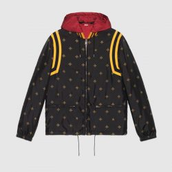 Bee star jacquard nylon jacket – Gucci Outerwear & Leather Jackets