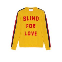Blind for Love and wolf wool sweater – Gucci Men's Sweaters & Cardigans