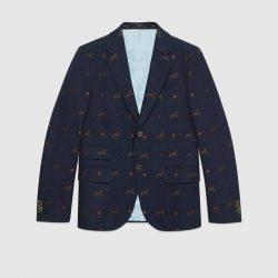 Cambridge horse pattern gabardine jacket – Gucci Men's Coats & Jackets