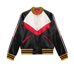 Chevron acetate bomber jacket – Gucci Outerwear & Leather Jackets