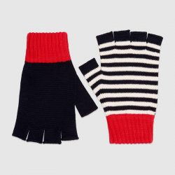 Cotton fingerless gloves – Gucci Men's Hats & Gloves