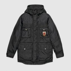 GG jacquard nylon jacket – Gucci Outerwear & Leather Jackets