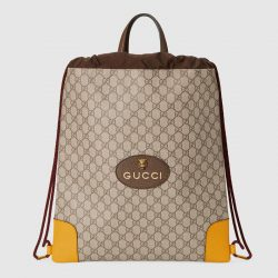 GG Supreme drawstring backpack – Gucci Men's Backpacks