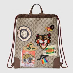 Gucci Courrier soft GG Supreme drawstring backpack. – Gucci Men's Backpacks