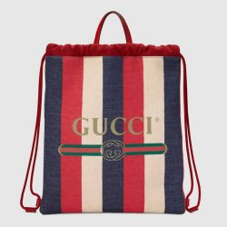 Gucci Print medium drawstring backpack – Gucci Men's Backpacks