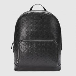 Gucci Signature leather backpack – Gucci Men's Backpacks