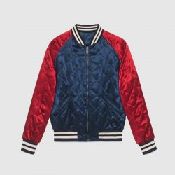 Gucci stripe reversible acetate bomber – Gucci Outerwear & Leather Jackets