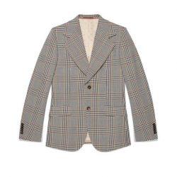 Heritage retro check jacket – Gucci Men's Suits