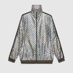 Laminated sparkling GG jersey jacket – Gucci Gifts for Men