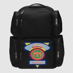 Large backpack with Gucci '80s patch – Gucci Men's Backpacks
