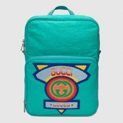 Medium backpack with Gucci '80s patch – Gucci Men's Backpacks