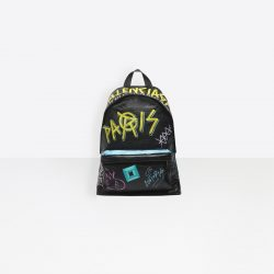 ‎Men‎'s ‎Black ‎ ‎Explorer Backpack Graffiti ‎ | Balenciaga