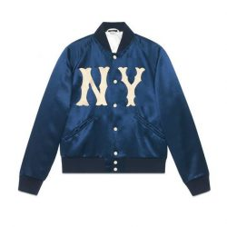 Men's jacket with NY Yankees™ patch – Gucci Men's Bombers